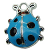 Zinc Alloy Enamel Pendant. Fashion Jewelry Findings. 16x21mm. Sold by PC