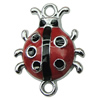 Zinc Alloy Enamel Connector, Fashion jewelry findings, Many colors for choice, Animal 19x24mm, Sold by PC