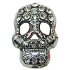 Crystal Zinc alloy Beads, Fashion jewelry findings, Many colors for choice, Skeleton 14x21mm, Sold By PC