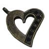 Pendantsettings.FashionZincAlloyJewelryFindings.Heart37x22mm,SoldbyBag
