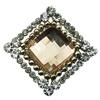 Brooch/HairpinHead,FashionZincAlloyJewelryFindings. Diamond 29x30mmSoldbyPC