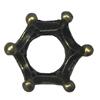 Spacerbeads,FashionZincAlloyjewelryfindings,12.5mm,Holesize:6mm.Soldbybag