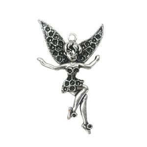 Pendantsettings.FashionZincAlloyJewelryFindings.Angel 61x26mm,SoldbyBag