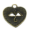 Zinc alloy Pendant, Fashion jewelry findings, Many colors for choice, Heart 19.5x17.5mm, Sold By Bag