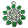 Crystal Zinc alloy Pendant, Fashion jewelry findings, Many colors for choice, Flower 32mm, Sold By PC