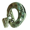 Clasps. Fashion Zinc Alloy Jewelry Findings. 40x30mm. Hole:10.5x2mm. Sold by Pc