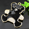 Crystal Zinc alloy Pendant, Fashion jewelry findings, Many colors for choice, Animal 59x50mm, Sold By PC