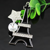 Crystal Zinc alloy Pendant, Fashion jewelry findings, Many colors for choice, Tower 81x42mm, Sold By PC