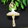 Crystal Zinc alloy Pendant, Fashion jewelry findings, Many colors for choice, People 80x40mm, Sold By PC