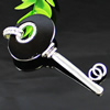 Crystal Zinc alloy Pendant, Fashion jewelry findings, Many colors for choice, Key 93x41mm, Sold By PC