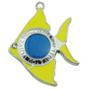 Crystal Zinc alloy Pendant, Fashion jewelry findings, Many colors for choice, Animal 44x35mm, Sold By PC