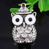 Crystal Zinc alloy Pendant, Fashion jewelry findings, Many colors for choice, Animal 38x23mm, Sold By PC