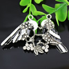 Crystal Zinc alloy Pendant, Fashion jewelry findings, Many colors for choice, Animal  67x42mm, Sold By PC