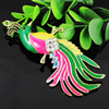 Crystal Zinc alloy Pendant, Fashion jewelry findings, Many colors for choice, Animal 97x42mm, Sold By PC