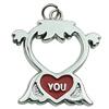 Zinc Alloy Enamel Pendant. Fashion Jewelry Findings. 30x38mm. Sold by PC