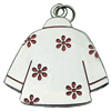Zinc Alloy Enamel Pendant. Fashion Jewelry Findings. clothes 36x34mm. Sold by PC