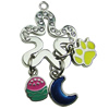 Crystal Zinc alloy Pendant, Fashion jewelry findings, Many colors for choice, Flower 45x24mm, Sold By PC