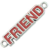 Zinc Alloy Enamel Connector, Fashion jewelry findings, Many colors for choice, letter 9x38mm, Sold by PC