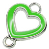 Zinc Alloy Enamel Connector, Fashion jewelry findings, Many colors for choice, Heart 16x21mm, Sold by PC