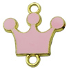 Zinc Alloy Enamel Connector, Fashion jewelry findings, Many colors for choice, Crown 20x21mm, Sold by PC