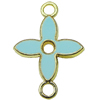 Zinc Alloy Enamel Connector, Fashion jewelry findings, Many colors for choice, Flower 15x22mm, Sold by PC