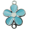 Zinc Alloy Enamel Connector, Fashion jewelry findings, Many colors for choice, Flower 19x25mm, Sold by PC