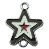 Zinc Alloy Enamel Connector, Fashion jewelry findings, Many colors for choice, Star 20x24mm, Sold by PC