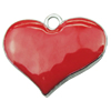 Zinc Alloy Enamel Connector, Fashion jewelry findings, Many colors for choice, Heart 21x26mm, Sold by PC