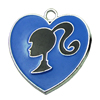 Zinc Alloy Enamel Connector, Fashion jewelry findings, Many colors for choice, Heart 25x25mm, Sold by PC