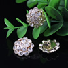 18mm Fashion Crystal Button Metal Gold Plated Round Rhinestone Loose Beads For Necklace Bracelet DIY Jewelry Accessories