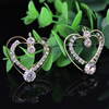 32x28mm Fashion Crystal Pendant Metal Gold Plated Heart Rhinestone Pendant For Necklace DIY Jewelry Accessories