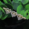 50x5.5mm Fashion Crystal Tube Metal Gold Plated Rhinestone Tube/Pendant For Necklace DIY Jewelry Accessories