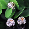 11mm Fashion Crystal Button Metal Gold Plated Round Rhinestone Loose Beads For Necklace Bracelet DIY Jewelry Accessories