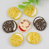 Flat Back Resin Cookies Cabochons Jewelry Fit Mobile Phone Hairpin Headwear Yearning DIY Accessories 28x23mm
