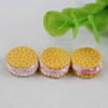 Flat Back Resin Cute Cookies Cabochons Jewelry Fit Mobile Phone Hairpin Headwear Yearning DIY Accessories 14mm