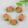 Flat Back Resin Cute Hamburg Cabochons Jewelry Fit Mobile Phone Hairpin Headwear Yearning DIY Accessories 17x13mm