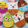 Wooden Button/Beads, Fashion DIY-accessories Mixed color Mixed Pattern Flat Oval, 31x24mm,Hole:1.5mm Sold by Bag