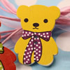 Wooden Button/Beads, Fashion DIY-accessories Mixed color Mixed Pattern Bears, 32x33mm,Hole:1.5mm Sold by Bag