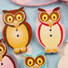 Wooden Button/Beads, Fashion DIY-accessories Mixed color Mixed Pattern Owl, 32x21mm,Hole:1.5mm Sold by Bag