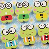 Wooden Button/Beads, Fashion DIY-accessories Mixed color Mixed Pattern Frog, 18x23mm,Hole:1.5mm Sold by Bag
