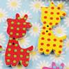 Wooden Button/Beads, Fashion DIY-accessories Mixed color Mixed Pattern giraffe, 30x15mm, Hole:1mm Sold by Bag