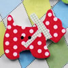Wooden Button/Beads, Fashion DIY-accessories Mixed color Mixed Pattern Dog, 29x21mm, Hole:1mm Sold by Bag