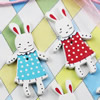 Wooden Button/Beads, Fashion DIY-accessories Mixed color Mixed Pattern hare, 37x21mm, Hole:1mm Sold by Bag