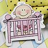 WoodenCabochonsBaby bedForBarrette/DecorationJewelryDIY-Accessories41x39mmSoldbyBag