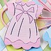 WoodenCabochons Baby SkirtForBarrette/DecorationJewelryDIY-Accessories36x26mm SoldbyBag