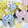 WoodenCabochonsgiraffe ForBarrette/DecorationJewelryDIY-Accessories48x23mmSoldbyBag