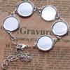 CopperAdjustable BraceletSettings,Fashionfor DIY Bracelet Jewelryfindings,About9-inch,innerdia:18mm,SoldbyPC