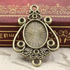 Zinc Alloy Cabochon Settings. Fashion Jewelry Findings. 33x21.5mm Inner dia 10x14mm. Sold by PC