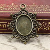Zinc Alloy Cabochon Settings. Fashion Jewelry Findings. 29.5x23mm Inner dia 10x14mm. Sold by PC