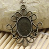 Zinc Alloy Cabochon Settings. Fashion Jewelry Findings. 31.5x26.5mm Inner dia 10x14mm. Sold by PC